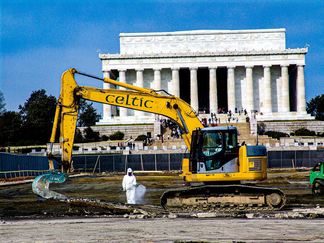 Celtic Demolition - Lincoln Memorial Reflecting Pool 4
