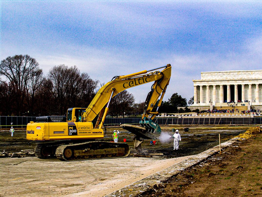 Celtic Demolition - Lincoln Memorial Reflecting Pool 5